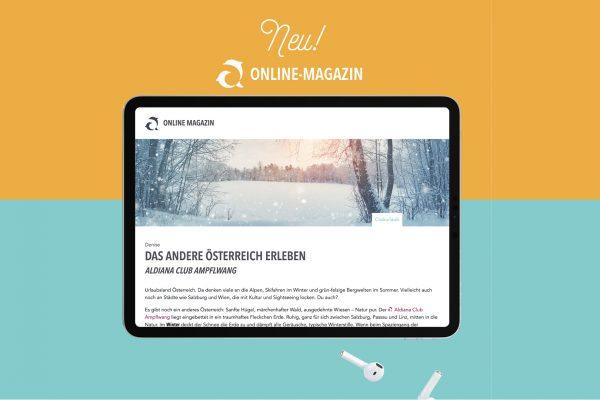 Aldiana Online Magazin mit WordPress umgesetzt