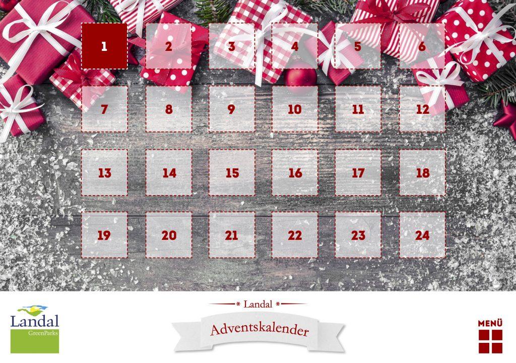 Online Adventskalender - Landal GreenParks - 2016
