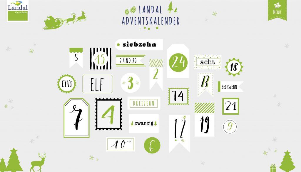 Online Adventskalender - Landal GreenParks - 2017