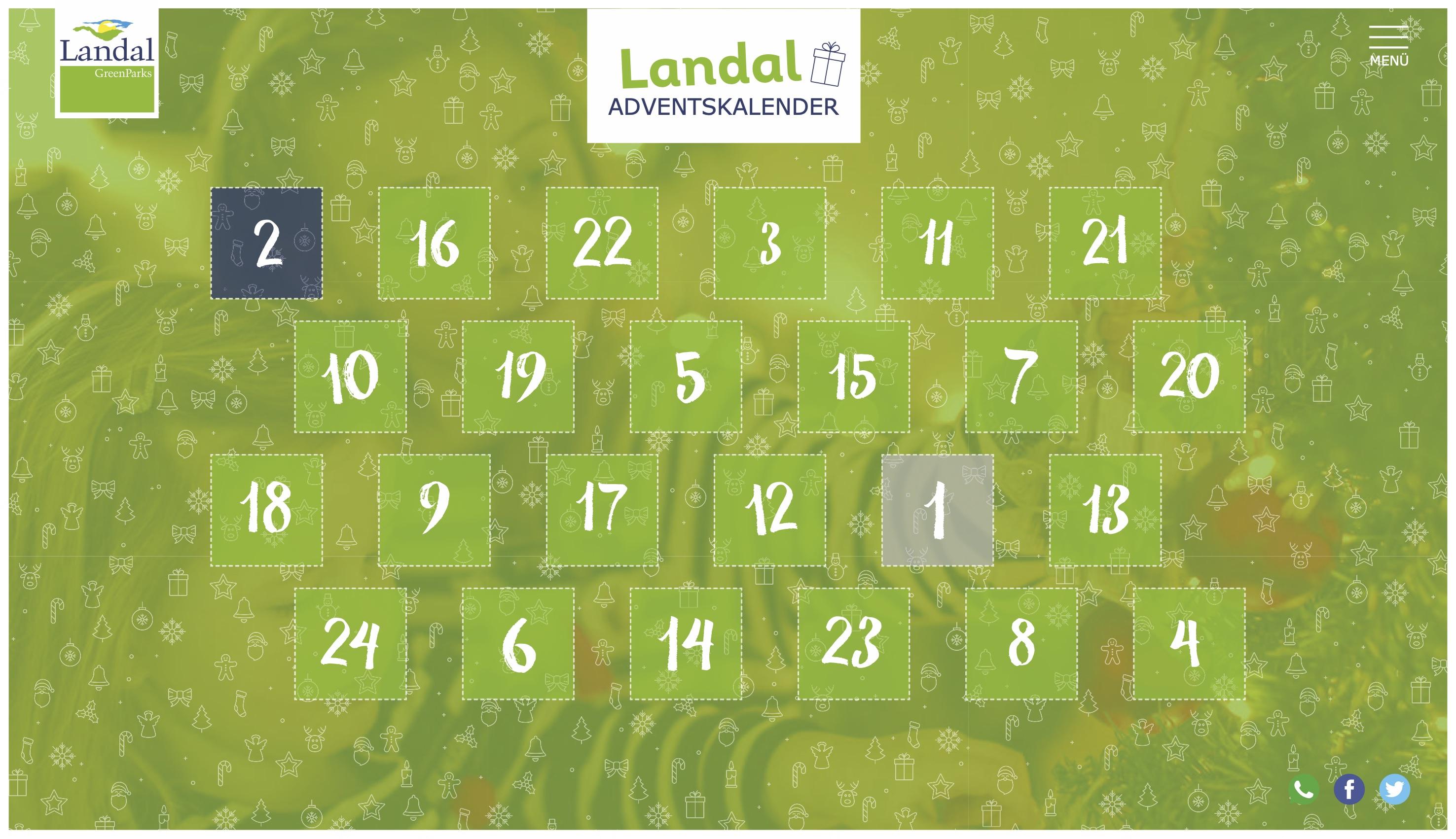 Online Adventskalender - Landal GreenParks - 2018