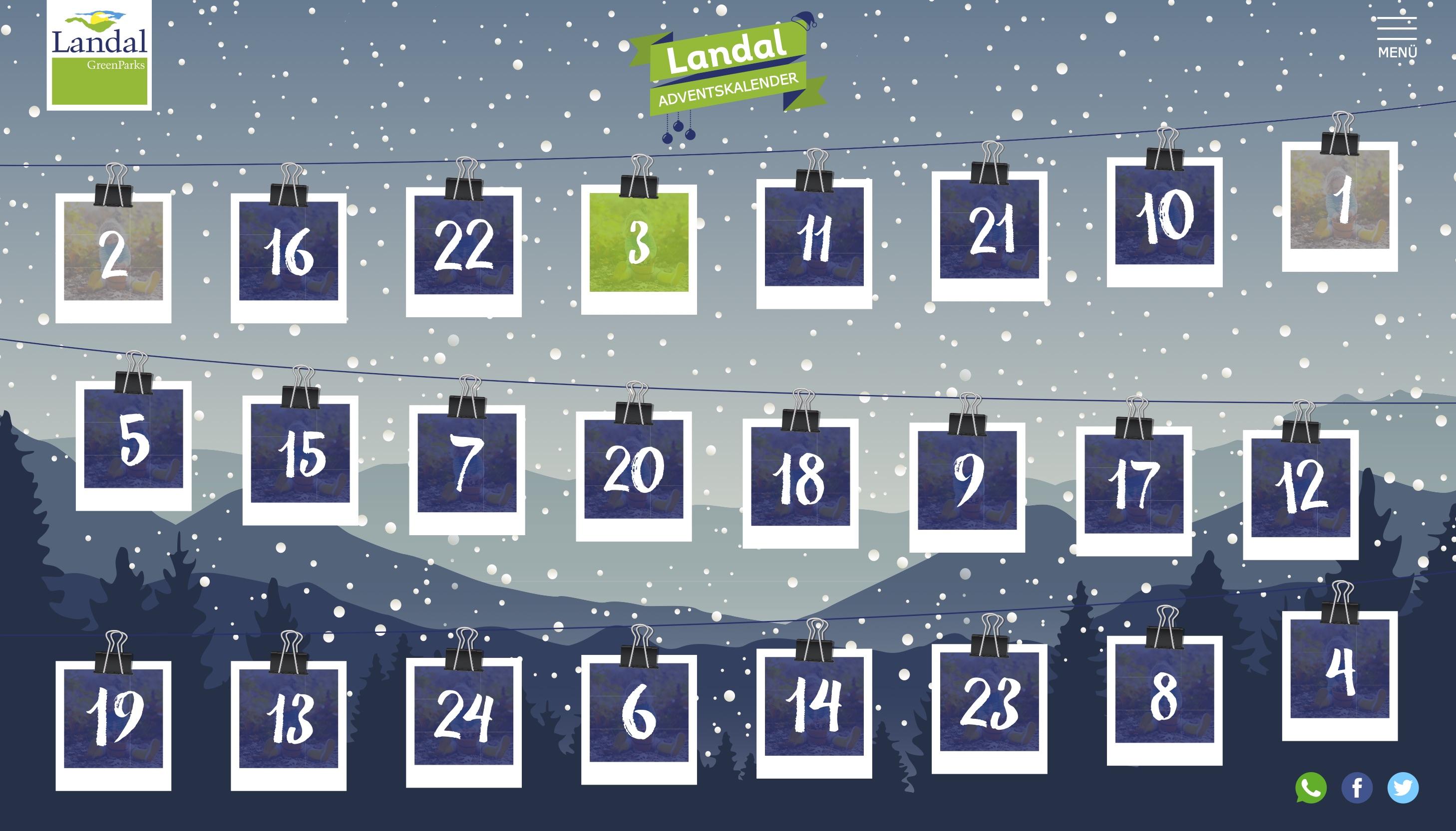 Online Adventskalender - Landal GreenParks - 2019