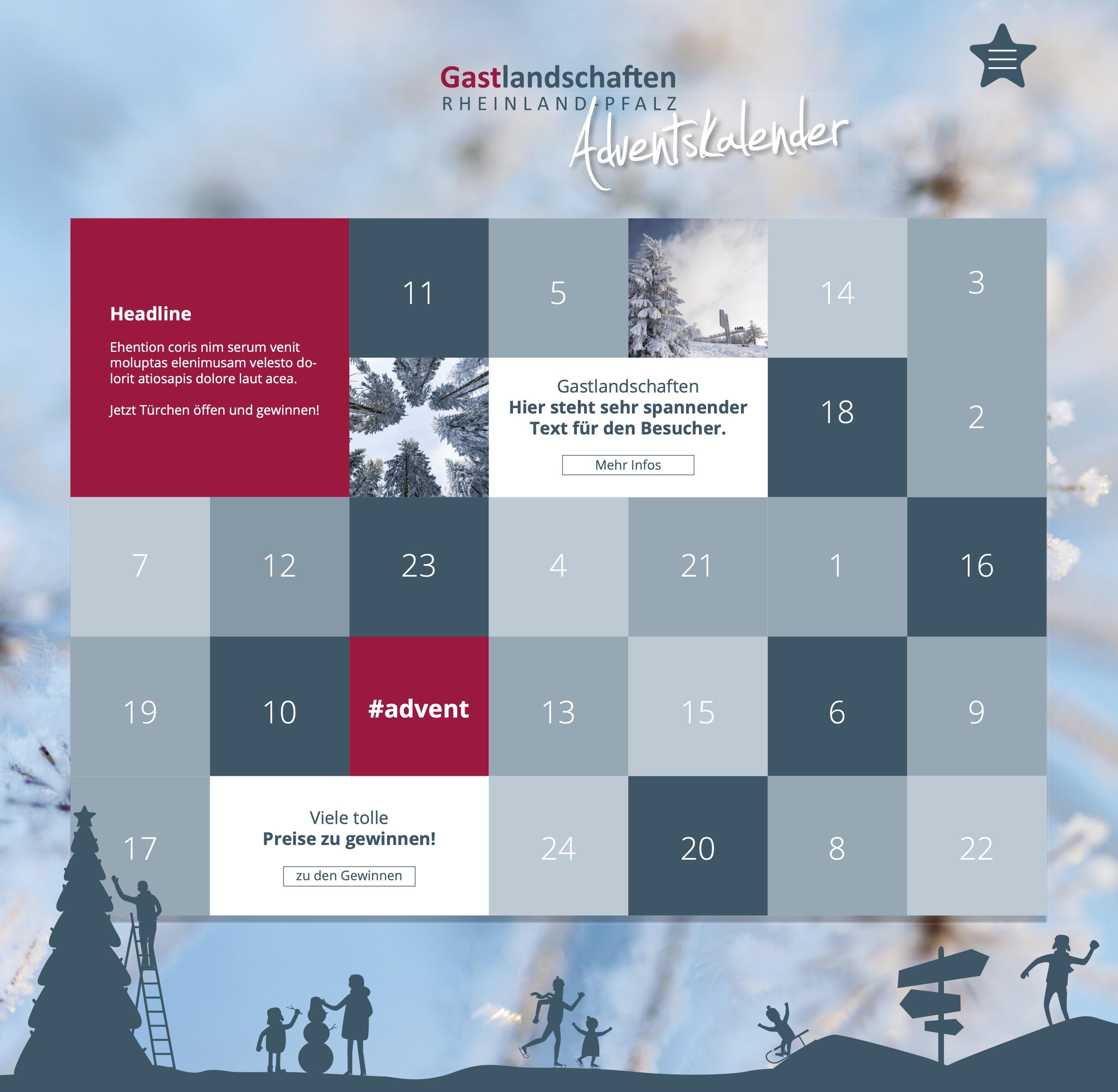 Online Adventskalender - Rheinland-Pfalz Tourismus - 2018