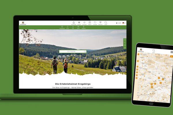 Touristische Webseite - Erzgebirge Tourismus