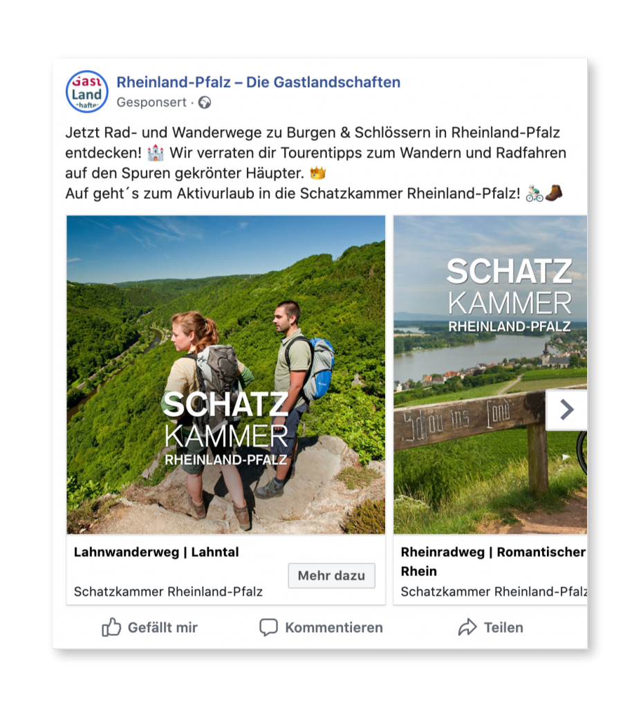Social Media Advertising im Tourismus - Wander Ads