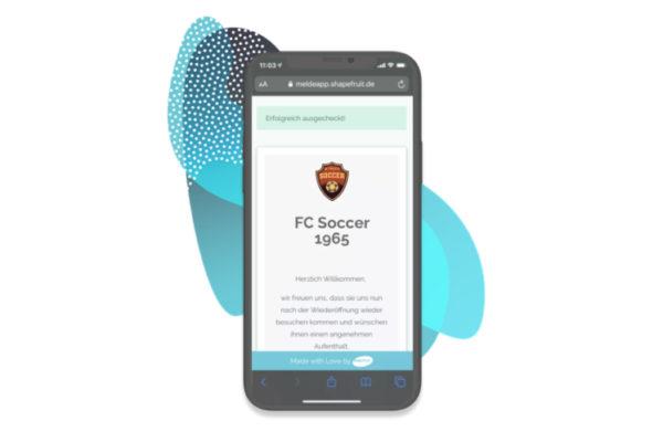 Kontaktdatenerfassung bei Sportvereinen