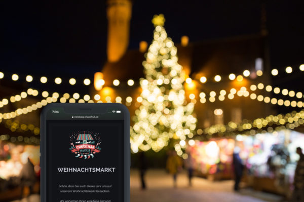 Kontaktdaten erfassen auf Weihnachtsmärkten